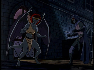 Disney Gargoyles - City of Stone part 1 - demona uncertain, vs hunter