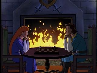 Disney Gargoyles - City of Stone part 1 - gruoch and macbeth smile