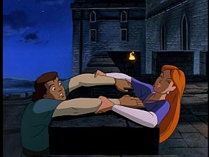 Disney Gargoyles - City of Stone part 1 - gruoch helps macbeth