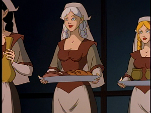 Disney Gargoyles - City of Stone part 1 - weird sisters as maids