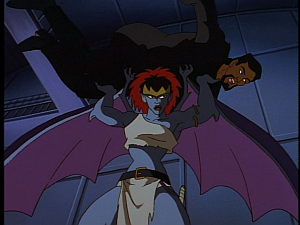 Disney Gargoyles - City of Stone part 2 - demona strict presses xanatos