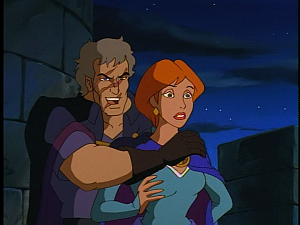 Disney Gargoyles - City of Stone part 2 - gillecomgain holds gruoch hostage