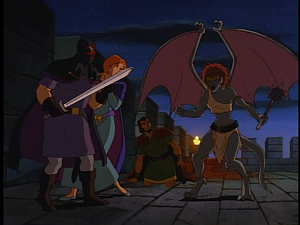 Disney Gargoyles - City of Stone part 2 - gillecomgain vs demona confrontation
