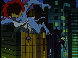 Disney Gargoyles - City of Stone part 2 - macbeth on demona gliding