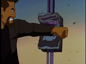 Disney Gargoyles - City of Stone part 2 - xanatos smashes circuit breaker box