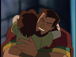 Disney Gargoyles - City of Stone part 3 - macbeth hugs luach