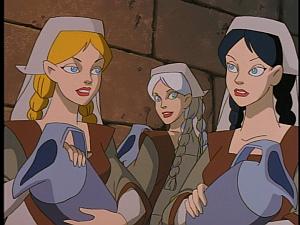 Disney Gargoyles - City of Stone part 3 - weird sisters happy