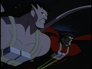 Disney Gargoyles - City of Stone part 4 - goliath and xanatos fly together