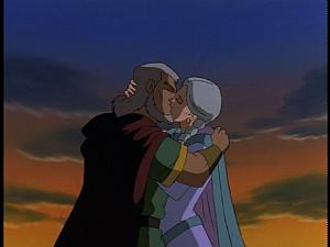 Disney Gargoyles - City of Stone part 4 - macbeth and gruoch kiss one last time