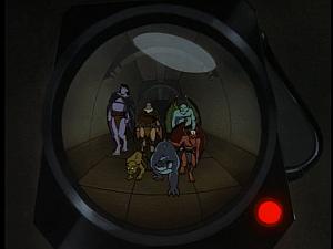 Disney Gargoyles - High Noon - camera sees clan