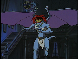 Disney Gargoyles - High Noon - demona attacks