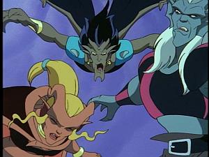 Disney Gargoyles - High Noon - iago swoops