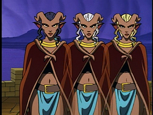 Disney Gargoyles - High Noon - weird sisters as desdemona
