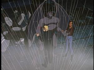 Disney Gargoyles - Double Jeopardy - elisa, owen, goliath in the rain