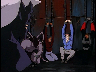 Disney Gargoyles - Double Jeopardy - everyone in chains