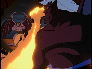 Disney Gargoyles - Double Jeopardy - goliath tries to save thailog