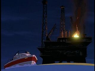 Disney Gargoyles - Double Jeopardy - rig explosion, boat