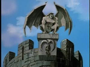 Disney Gargoyles - Double Jeopardy - thailog on parapet