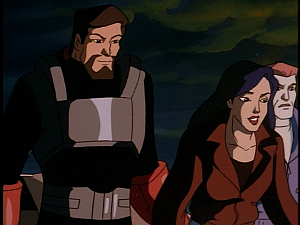 Disney Gargoyles - Double Jeopardy - xanatos and elisa happy goliath survived