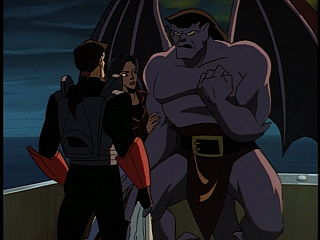 Disney Gargoyles - Double Jeopardy - xanatos with towel