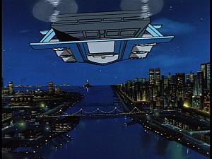Disney Gargoyles - Outfoxed - fortress II heads for cyberbiotics tower