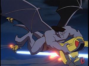 Disney Gargoyles - Outfoxed - goliath vs cybots