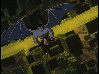 Disney Gargoyles - Protection - goliath about to drop dracon
