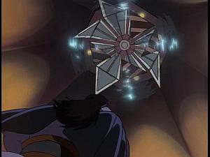 Disney Gargoyles - Revelations - blade over goliath in hotel cabal