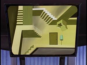Disney Gargoyles - Revelations - cabal room stairs