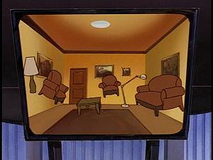 Disney Gargoyles - Revelations - hotel cabal key floating furniture room