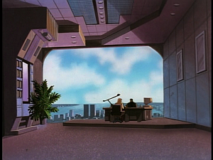 Disney Gargoyles - Upgrade - fox and david in office