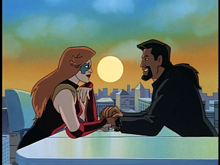 Disney Gargoyles - Upgrade - xanatos holds fox's hands