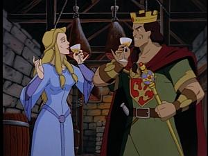 Disney Gargoyles - Avalon part 1 - constantine and finella drink