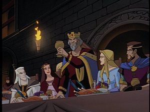 Disney Gargoyles - Avalon part 1 - kenneth and group toast