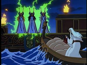 Disney Gargoyles - Avalon part 1 - magus vs weird sisters
