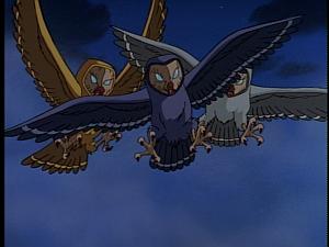 Disney Gargoyles - Avalon part 1 - weird sisters as owls