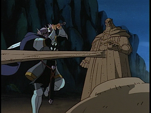 Disney Gargoyles - Avalon part 2 - tom attacks sand arch mage