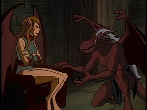 Disney Gargoyles - The Cage - brooklyn talks to maggie