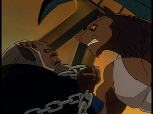 Disney Gargoyles - The Cage - hudson chained, fang