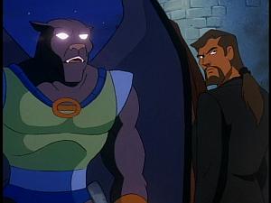 Disney Gargoyles - The Cage - talon angry, xanatos wary
