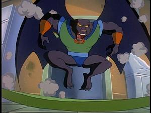 Disney Gargoyles - The Cage - talon kicks the door down