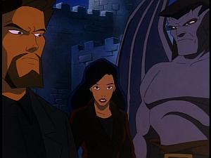 Disney Gargoyles - The Cage - xanatos annoyed at elisa calling him a liar