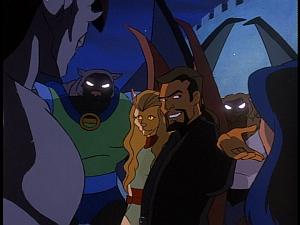 Disney Gargoyles - The Cage - xanatos breaks up goliath talon fight