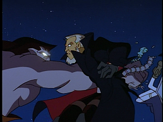 Disney Gargoyles - The Price - goliath punches through macbeth