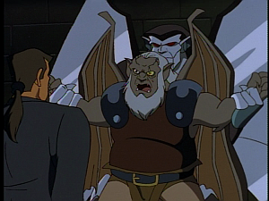 Disney Gargoyles - The Price - steel clan holding hudson