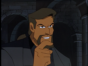 Disney Gargoyles - The Price - xanatos amused at owen's stone hand