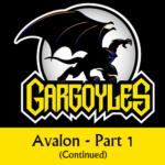 Disney Gargoyles logo with Goliath avalon p1 cont