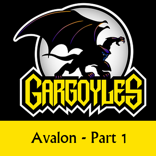 Disney Gargoyles logo with Goliath avalon p1