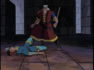 Disney Gargoyles - Avalon part 2 - macbeth and his dad spar