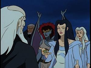 Disney Gargoyles - Avalon part 2 - weird sisters with eye and macbeth demona